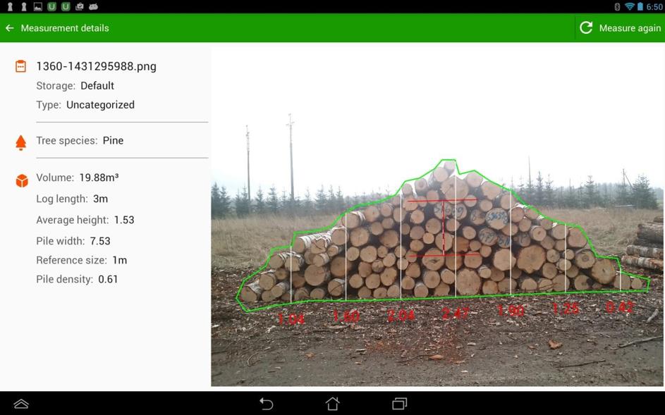 Prosty pomiar drewna z poradnikiem Timbeter