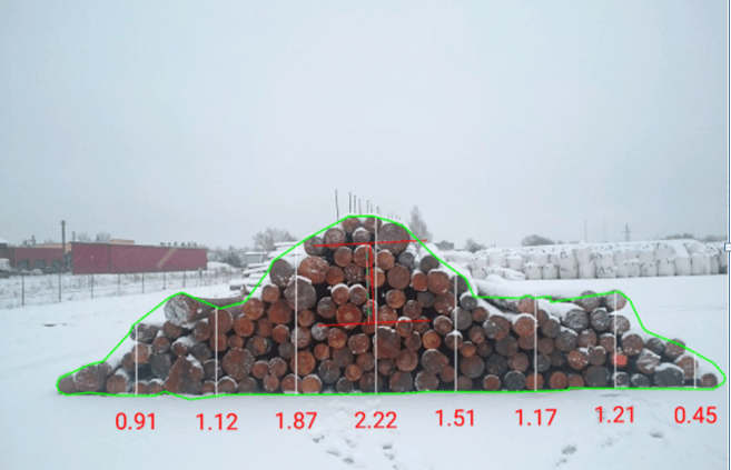 Log Pile Measurement